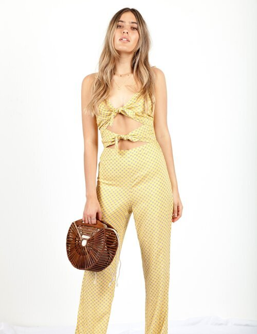 Hear It for the Girls Double tie Jumpsuit