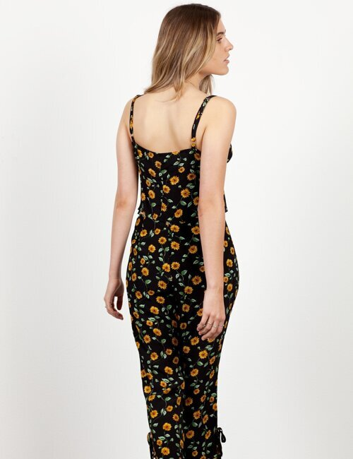Late Bloomer Black Floral Pants