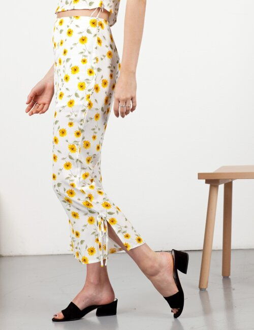 Late Bloomer White Floral Pants