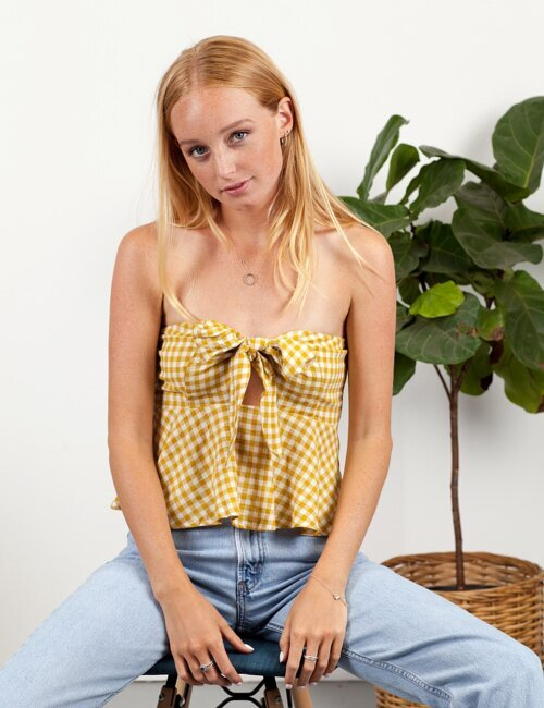Seattle Gingham Yellow Top