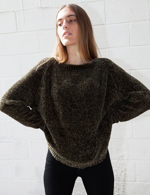 Not My Fault Olive Sweater