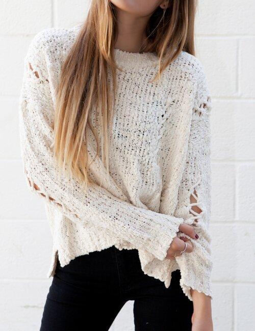 Bryn Cream Knit Sweater