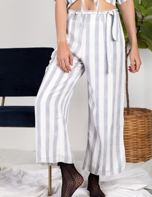 Out of Sight Blue Striped Pants
