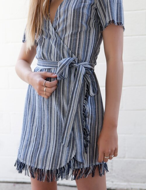 Getaway Blue Wrap Dress