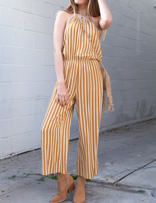 Melody Stripe Jumpsuit