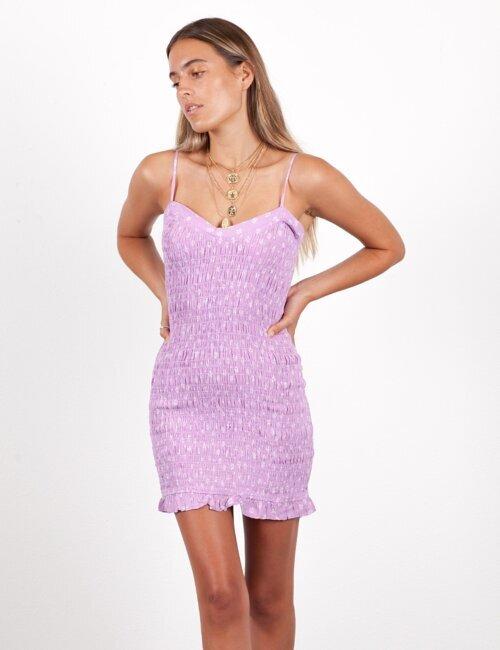 Daisy Purple Smocked Dress