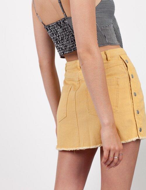 No Promises Yellow Denim Skirt