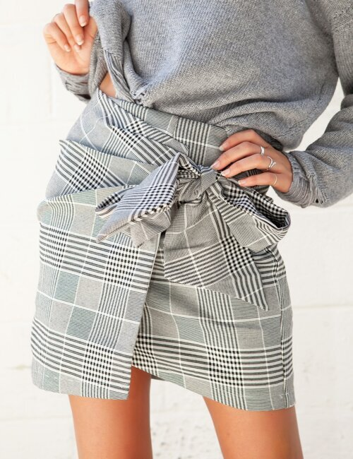 Harvard Grey Plaid Skirt