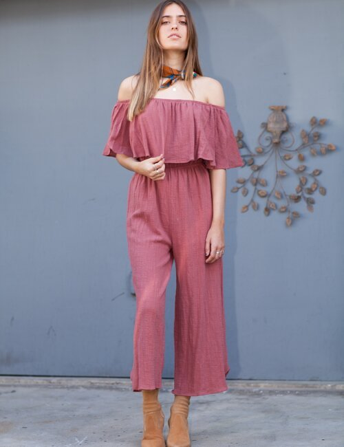 Castle On The Hill Berry Jumpsuit