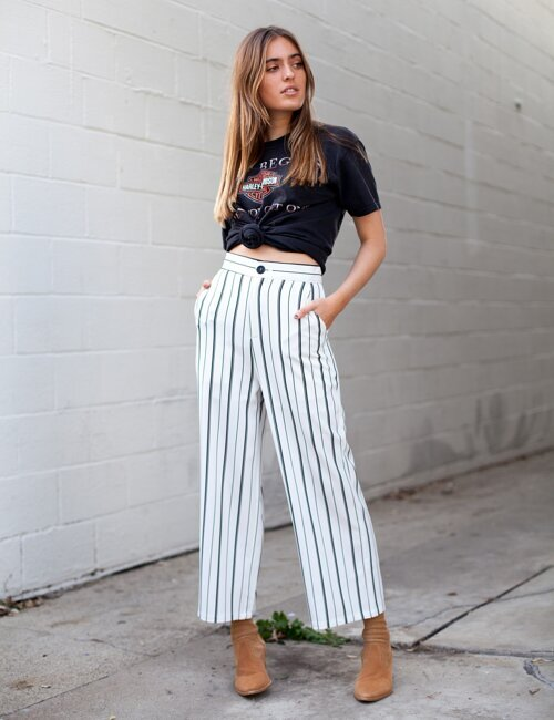 About Me Striped Pants