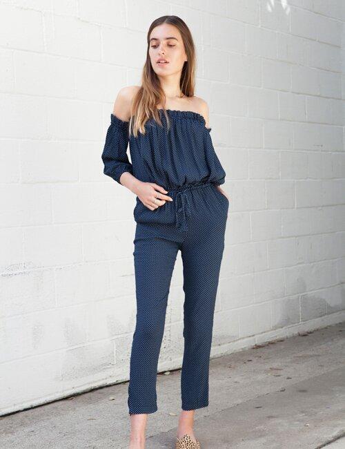 Penelope Blue Polka Dot Jumpsuit
