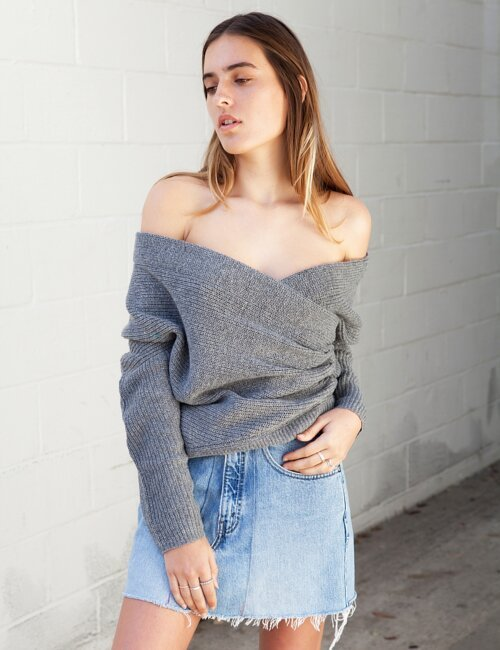Harding Grey Knit Sweater