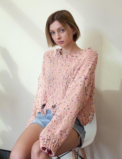 Marbella Pink  Knit Sweater