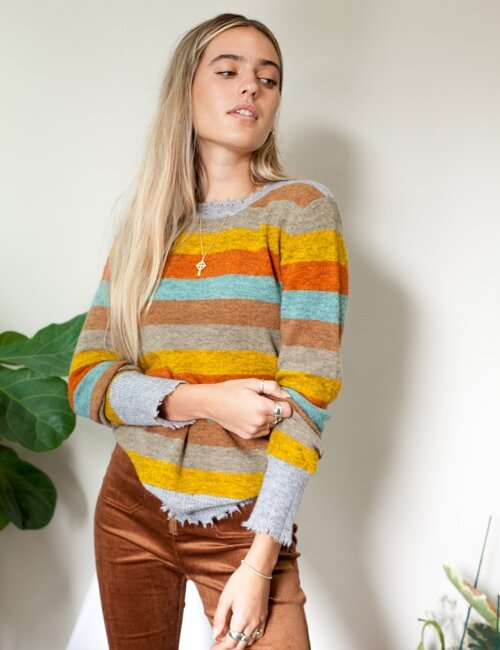 What About Me Multi Stripe Sweater