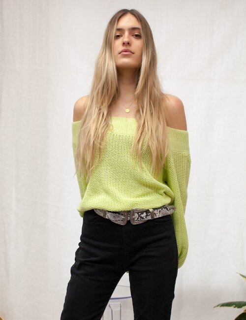 Hailie Neon Green Sweater