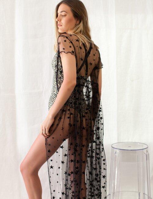 Starlight Black Mesh Dress