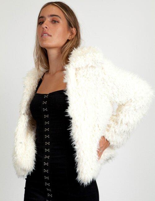 Kelsea Milk Fur Coat