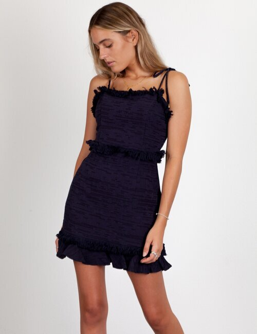 Strings Attached Navy Dress