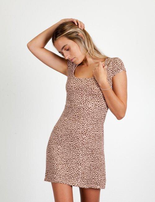 Mia Wild Pink leopard Dress