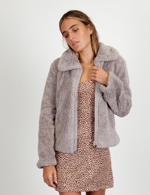 Feel No Ways Heather Grey Coat