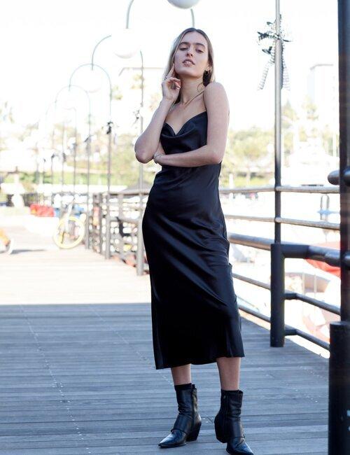 Anderson Black Midi Dress