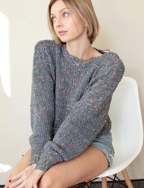 Marbella Grey Knit Sweater