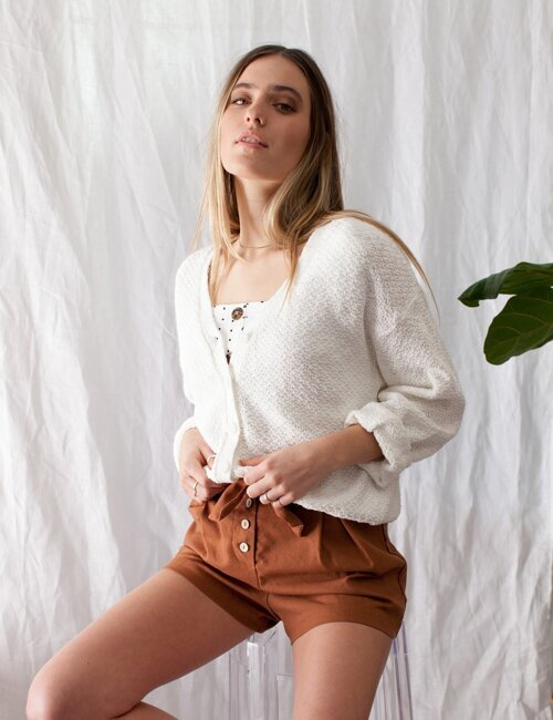 Rachel White Cardigan