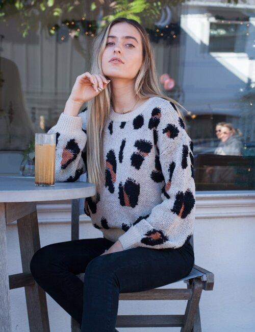 Concrete Jungle Leopard Sweater