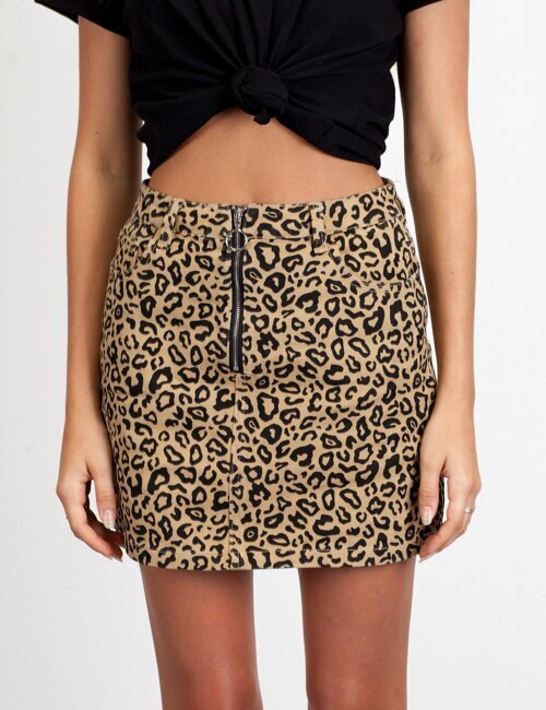 Claws Out Leopard Skirt