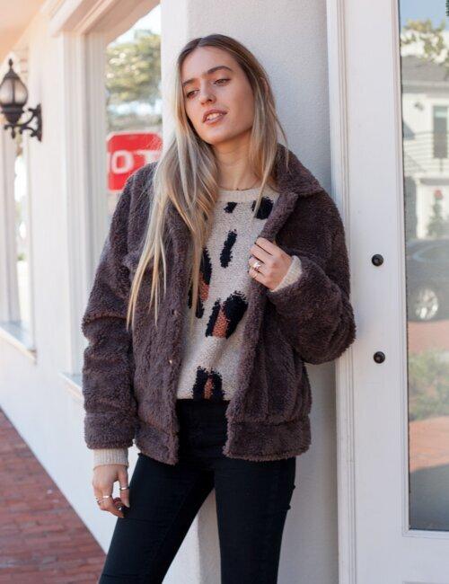 Twin Peaks Charcoal Furry Jacket