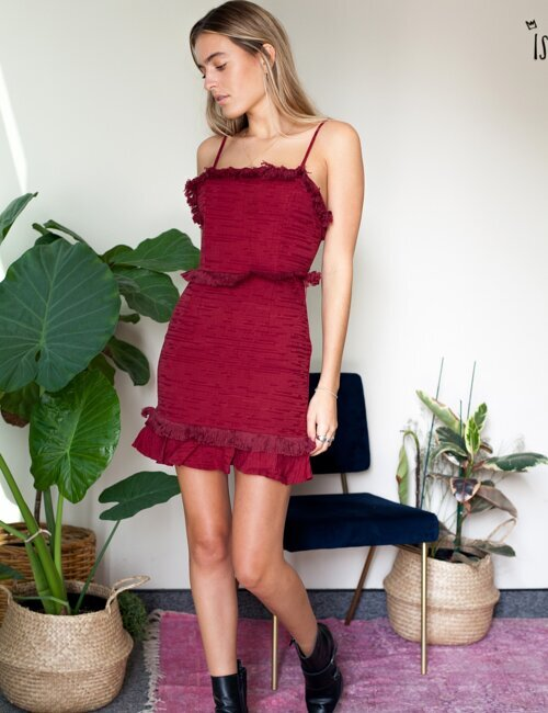 Strings Attached Red Dress