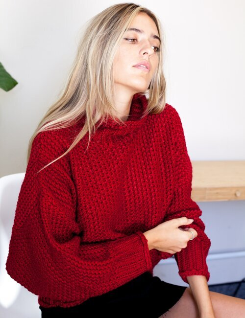 Manchester Cabernet Knit Sweater