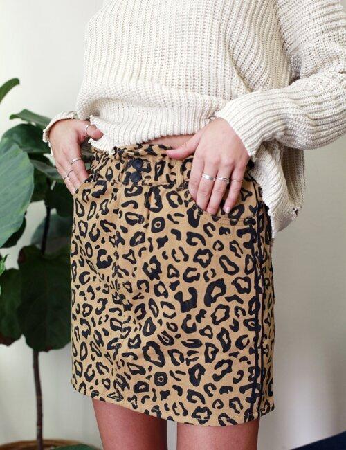 Frankie Leopard Skirt