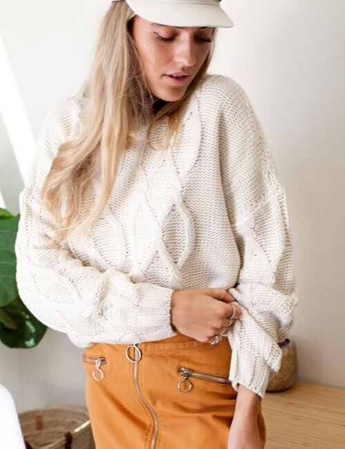 Teagan Natrual Knit Sweater