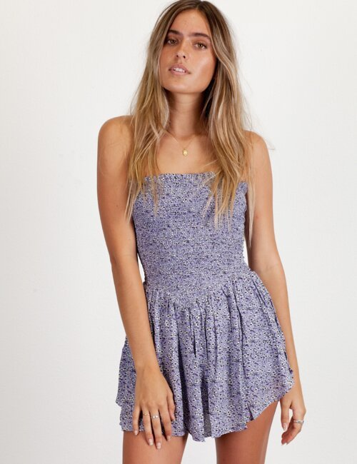 Face to Face Lavender Romper