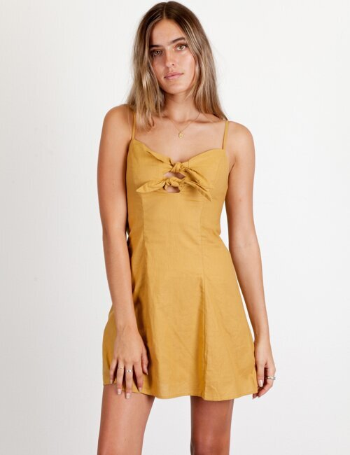 New Perspective Mustard Dress
