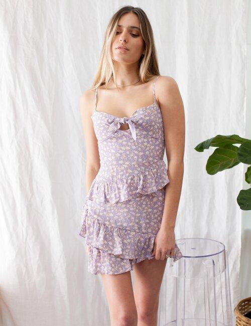 Can't Get Enough Purple Floral Dress