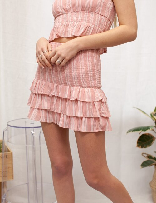 Bonita Pink Striped Skirt