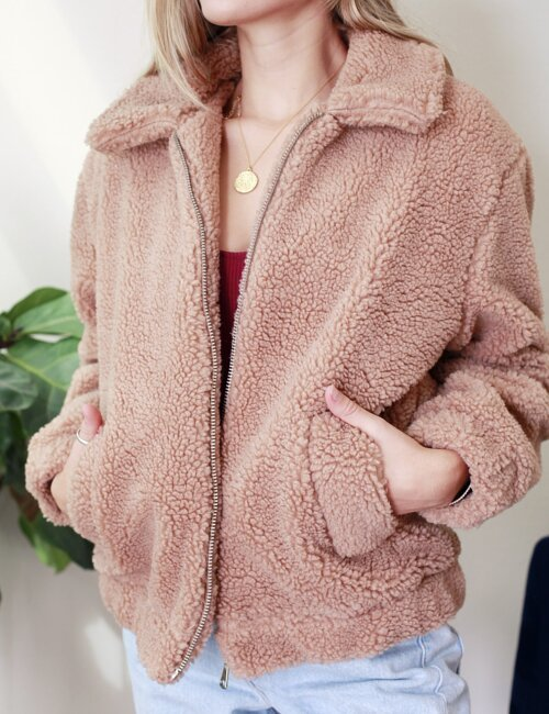 Hartford Mocha Teddy Jacket
