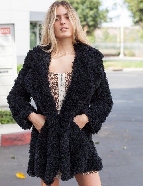 Dream A Little Black Fur Coat