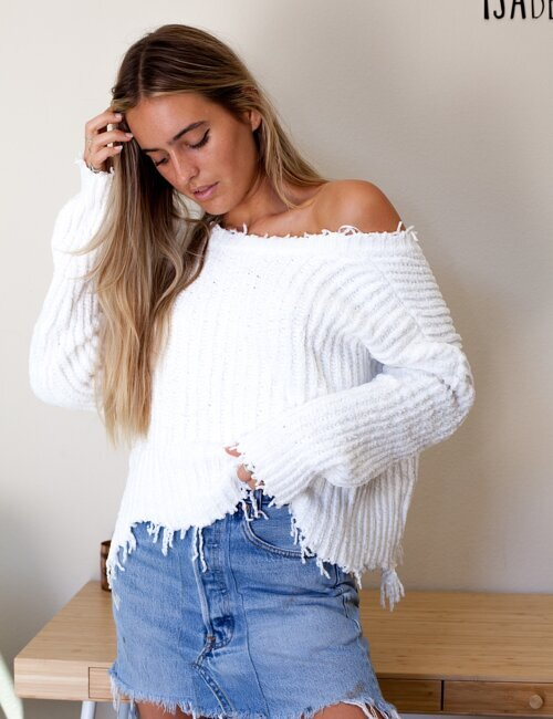 Stargazing White Sweater