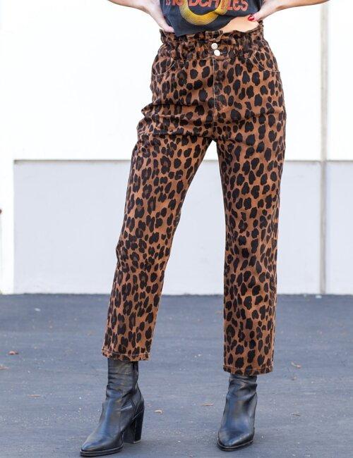 Walk This Way Brown Leopard Pants