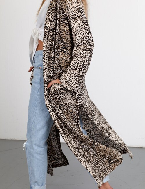 Wild Child Leopard Duster Coat