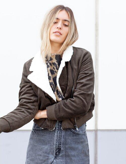 Holland Olive Corduroy Moto Jacket