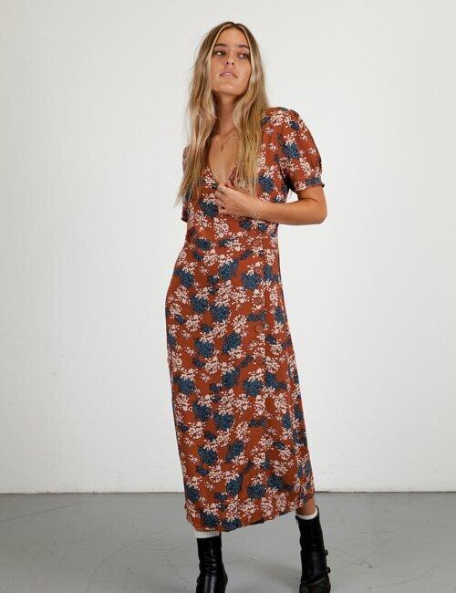 Gloria Maxi Wrap Dress