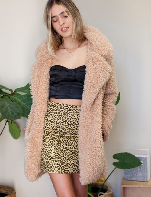 Dream A Little Taupe Fur Coat