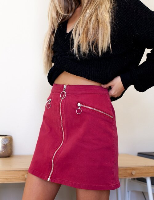 Lucky Strike Wine Skirt