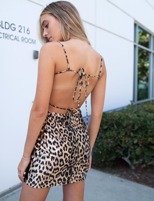 Wild Leopard Printed Slip Dress