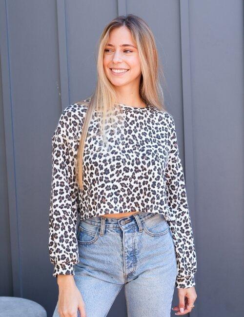 Sadie Leopard Pullover