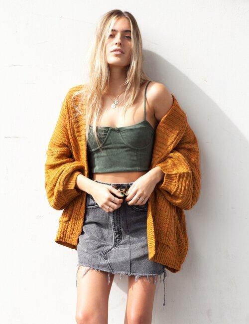 Sienna Mustard Knit Cardigan